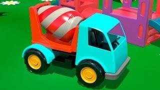 Бетономешалка - рабочие машины - развивающие мультфильмы для детей
