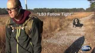 DARPA - AlphaDog Legged Squad Support System (LS3) Follow The Leader Field Testing [720p]