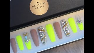 SECRETS to PERFECT FAUX ACRYLIC NAILS AT HOME!   DIY 💅 ☆