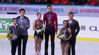 На этапе Гран-при во Франции российская сборная завоевала пять медалей, две из которых золотые.