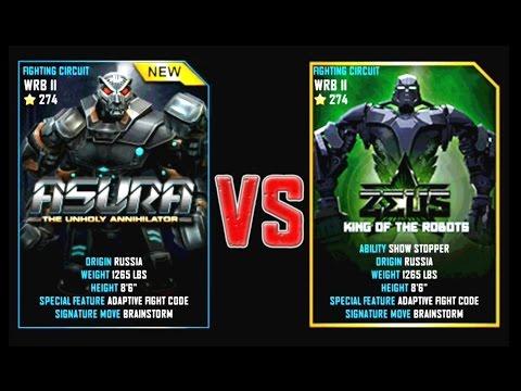 REAL STEEL WRB Final ASURA VS Zeus New Robots CHRISTMAS UPDATE