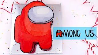 Among Us Торт Красный Бархат Among Us Cake Red Velvet
