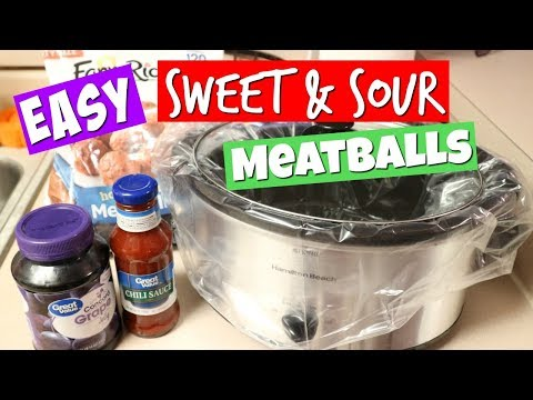 Easy Sweet & Sour Crockpot Meatballs!