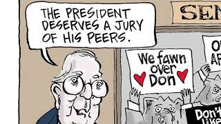 7 brutally funny cartoons about Trump's Senate impeachment trial