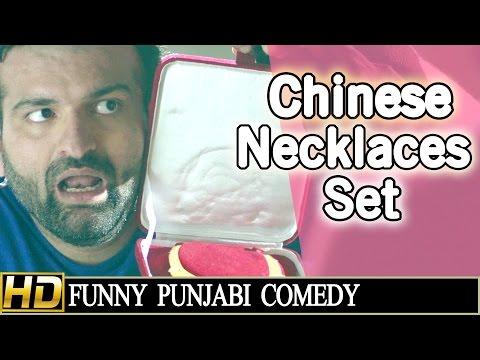 Punjabi Comedy Scene - Chinese Necklace Set || Navraj Hans AND Yuvraj Hans || Lokdhun Punjabi