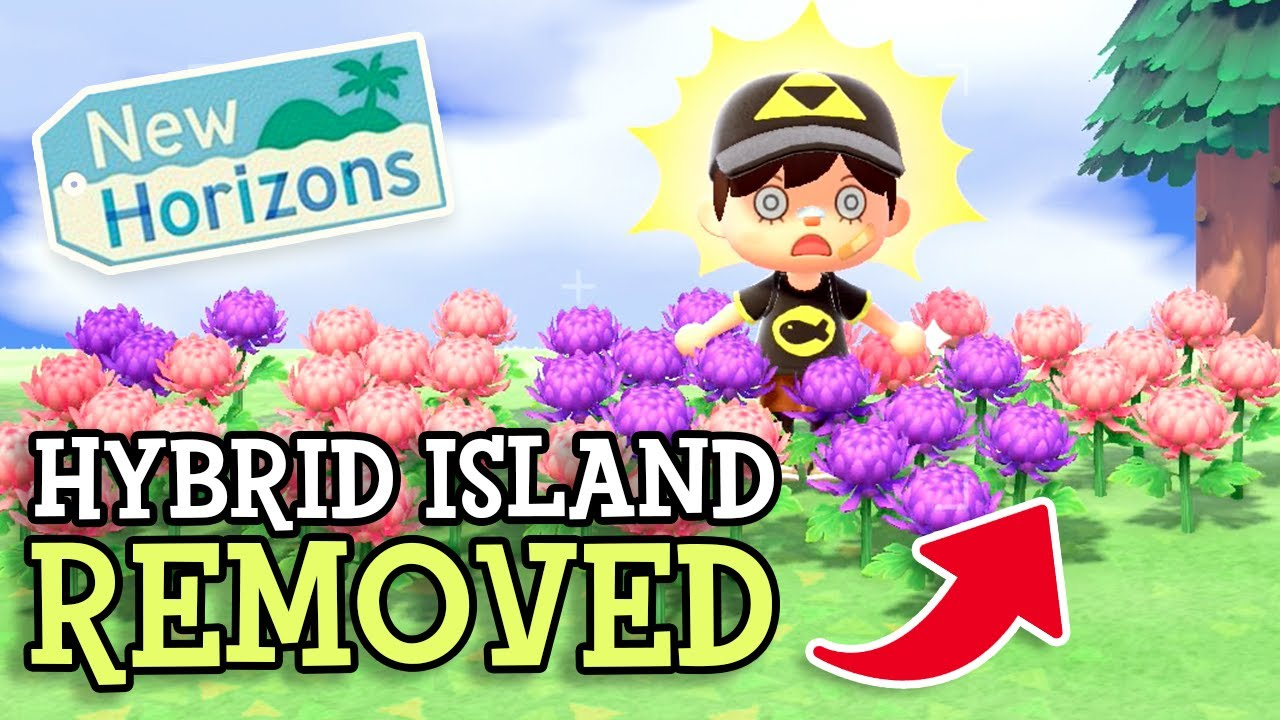 Animal Crossing New Horizons Hybrid Flower Island Removed