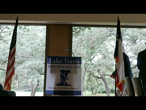 Roger Stone talks to the Lake Travis Republican Club