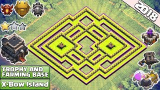 New Town Hall 9 Trophy/Farming base 2018 | X-bow Island th9 Base | Anti 2 & 3 Star - Clash of Clans