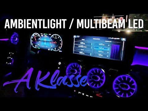 A-Klasse W177 Ambientebeleuchtung & Multibeam LED Nachtfahrt 2019