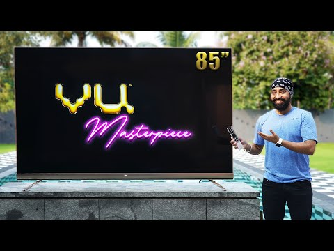 Vu Masterpiece TV   85 inch QLED TV   Hands on and Overview   Upgrade to WINDOWS 10