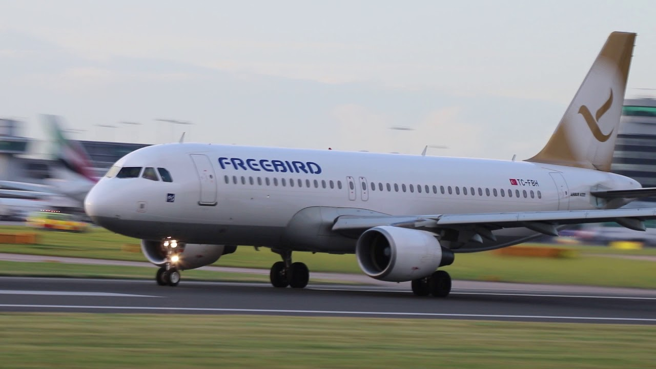 Freebird Airlines Fh626 Tc Fbh Airbus A320 214 Takeoff Manchester 17