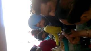 Agitation of punjabi university Patiala employees against re employment.