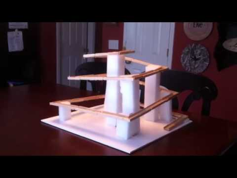 Popsicle Stick Roller Coaster Youtube