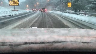 Snow Day Car Vlog - Driving To Work During The First Snow Fall Of The Winter 2017-2018 Season