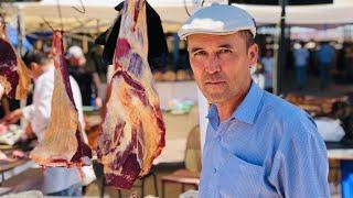 Узбекистан.Шок!!!!600 кг моркови нарезать вручную!???Чиракчи рынок