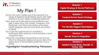 Free Short Course: Applied Social Media Marketing - Webinar 1