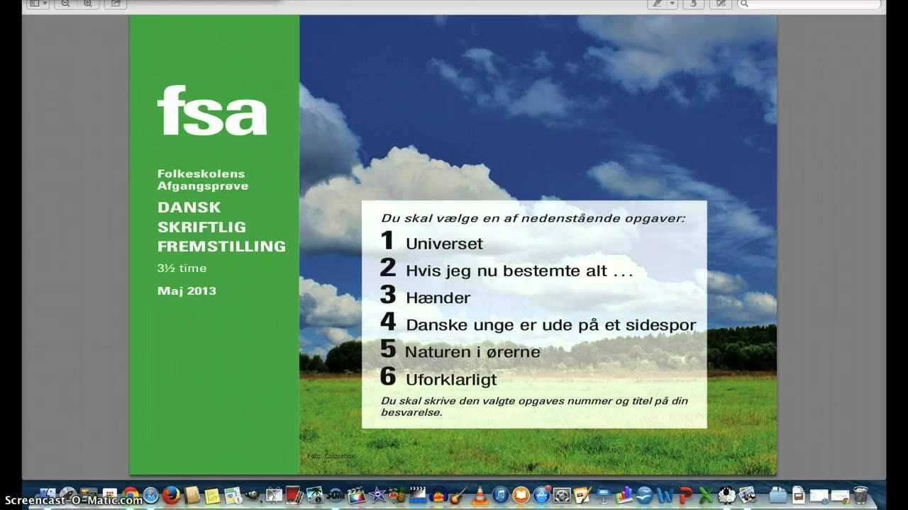 forberedelse til skriftlig dansk
