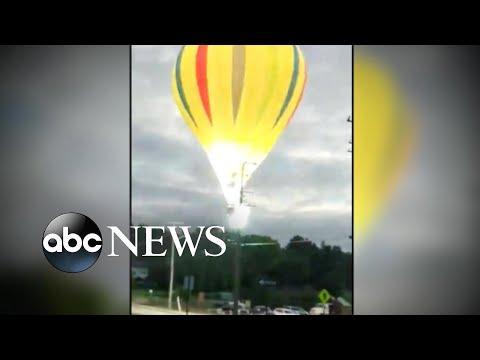 Pilot escapes hot air balloon crash