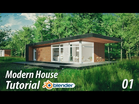 Create a Modern House : Blender Tutorial : 1 of 3