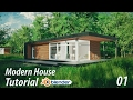 Create a Modern House Blender Tutorial 1 of 3