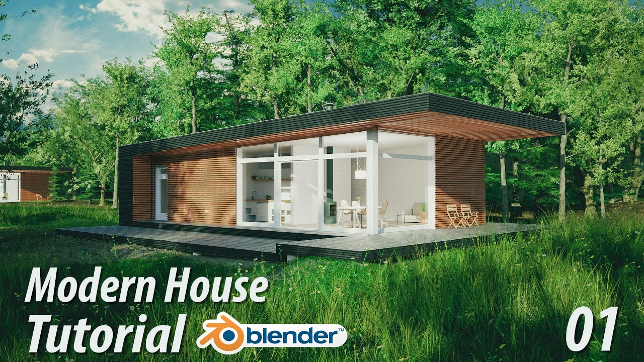 Captivating Create A Modern House : Blender Tutorial : 1 Of 3