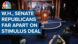 White House and Senate Republicans far apart on stimulus deal