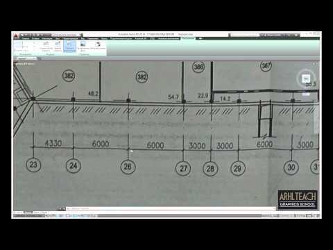 Масштабирование фото или скан чертежа в AutoCad