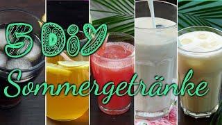 5 DIY SOMMERGETRÄNKE | erfrischende Getränke für den Sommer [EISTEE, PINA COLADA, EISKAFFEE..]
