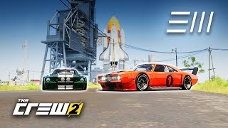 The Crew 2 - Mustang vs Charger Touring Cars | Fastest to NASA Launchpad Wins!