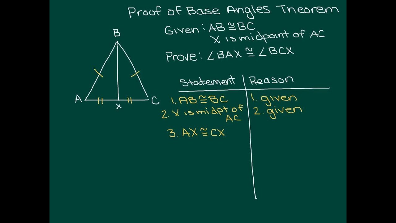 proof of base angle theorem