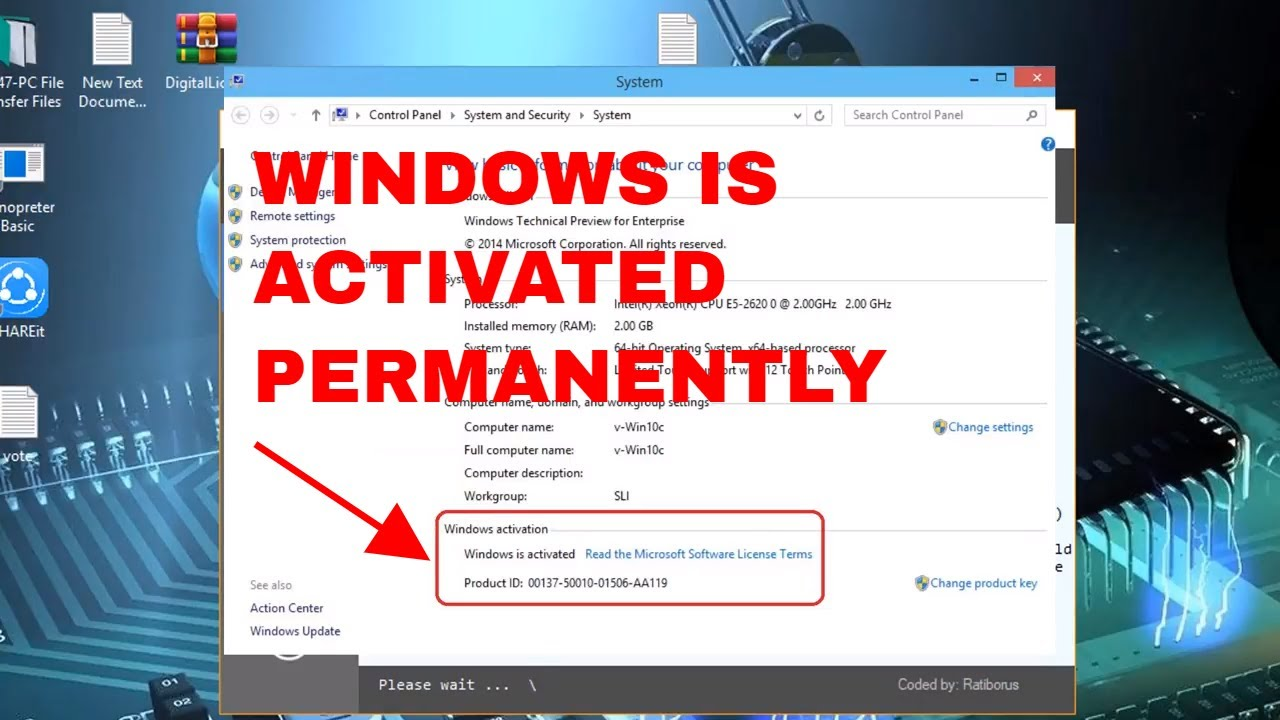 Windows 10 & 8 1 Activation 2019 All Versions (October 2019)✔