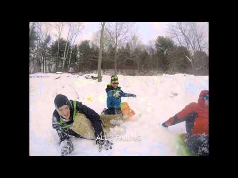 GoPro sledding