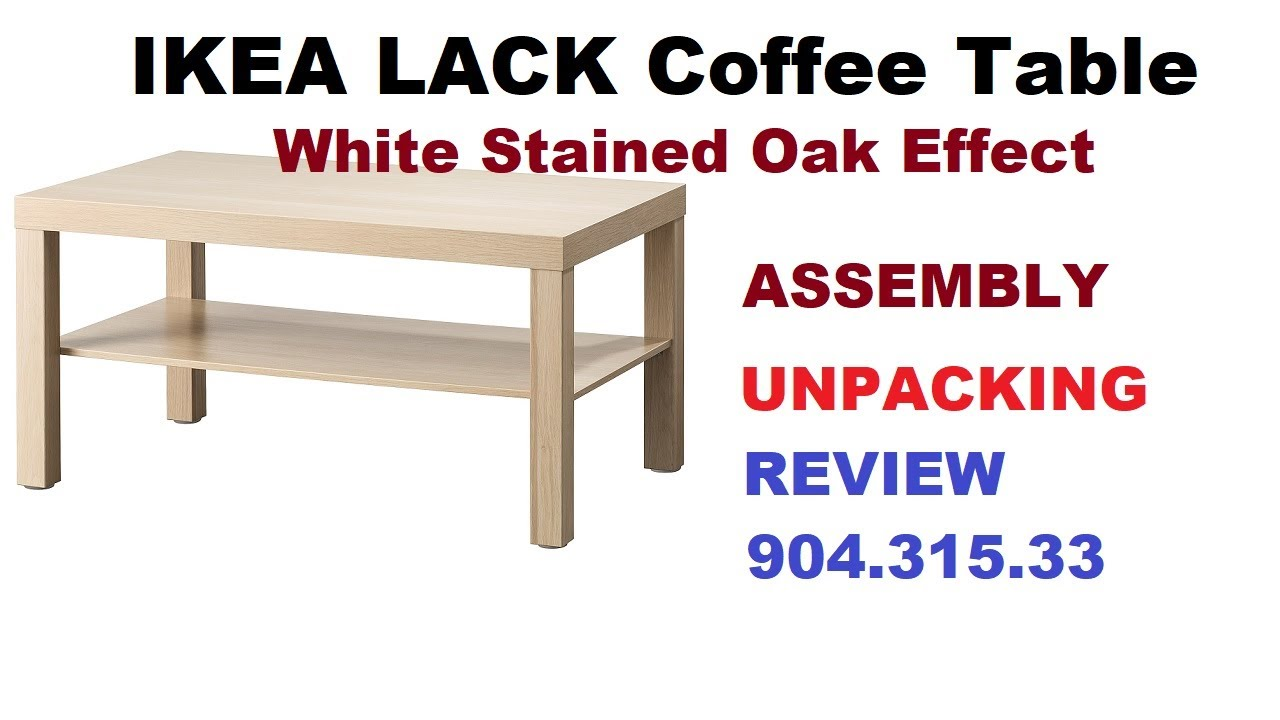 ikea lack coffee table assembly and instruction