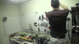 How To Build A Wall Shelf In The Garage For Under $20 (pt 1) [raw Footage]