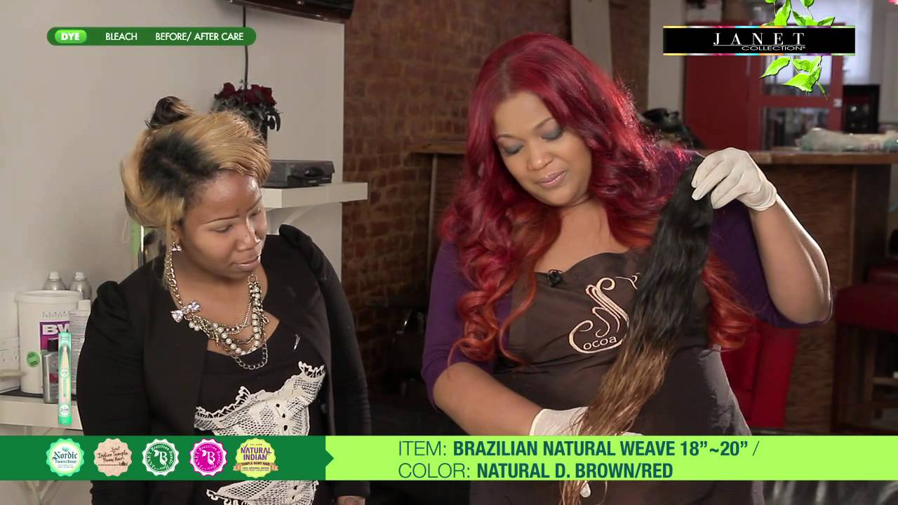 How To Dye Brazilian Hair Youtube