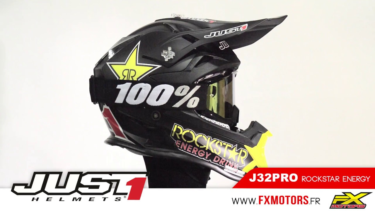 Casque Cross Just1 J32pro Rockstar Energy 2017 Youtube