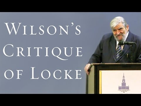 """Is There Anything """"Essentially"""" Human? James Wilson's Critique of Locke - Dr. Daniel N. Robinson"""