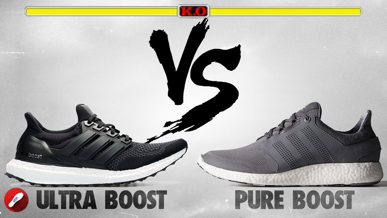 5d37cf6172acf Adidas Ultra Boost vs. Adidas Pure Boost - YouTube