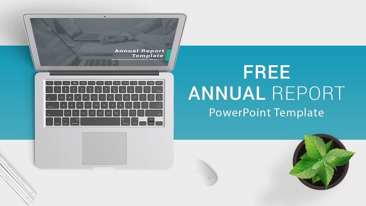 Free Download Annual Report Powerpoint Template For