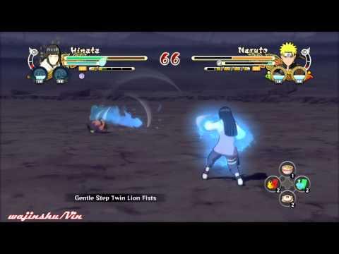 Naruto Ultimate Ninja Storm 3 Hinata vs Naruto Gameplay
