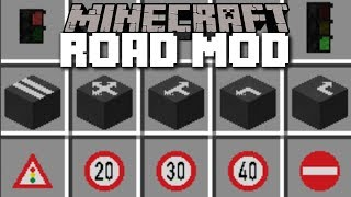 Minecraft REALISTIC ROAD MOD / BUILD YOUR OWN ROAD SYSTEM AND DRIVE CARS!! Minecraft