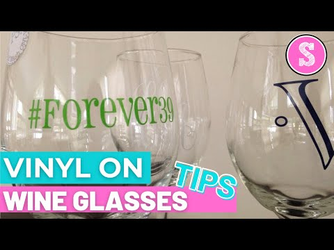 How To Put Vinyl On A Wine Glass