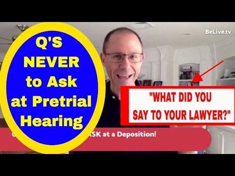 FACEBOOK LIVE! Questions NEVER to Ask at a Deposition; NY Medical Malpractice Attorney Explains