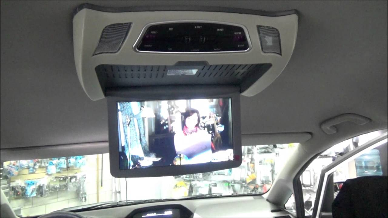 Honda Odyssey Flip Down Dvd Roof Mount Dvd Player Youtube