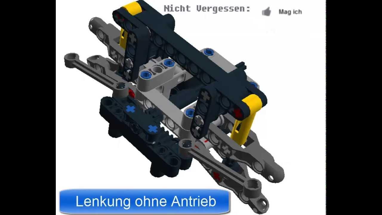 lego technic lenkung steering 2013 instruction ldd download youtube. Black Bedroom Furniture Sets. Home Design Ideas