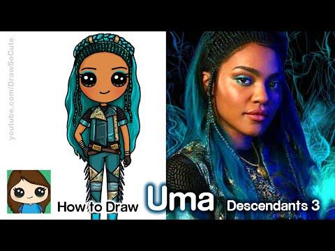 How to Draw Uma | Disney Descendants 3