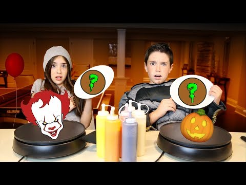 PANCAKE ART CHALLENGE!!  HALLOWEEN EDITION