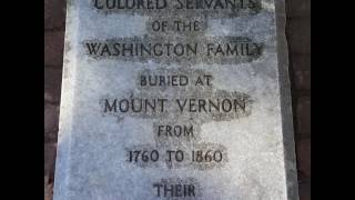 George Washington and his Slaves final resting place