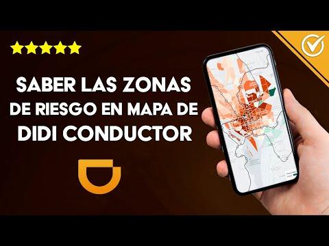 Cómo Saber las Zonas de alto Riesgo en el mapa de mi App de DIDI Conductor