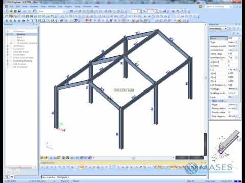 SCIA Engineer steel space frame - Part 1